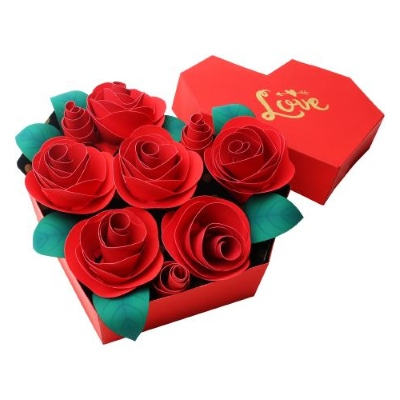 Valentines Papercraft: Heart Box of Roses