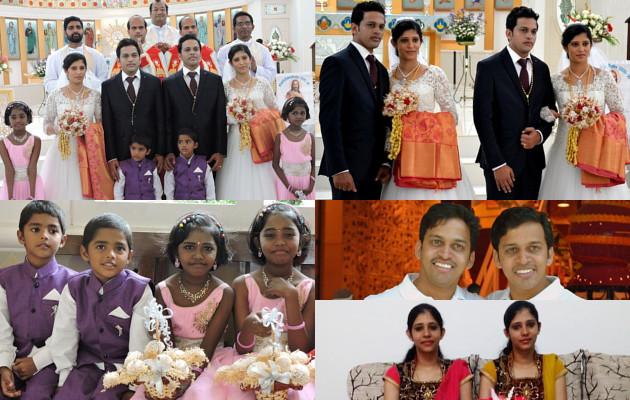 Pernikahan unik serba kembar 2