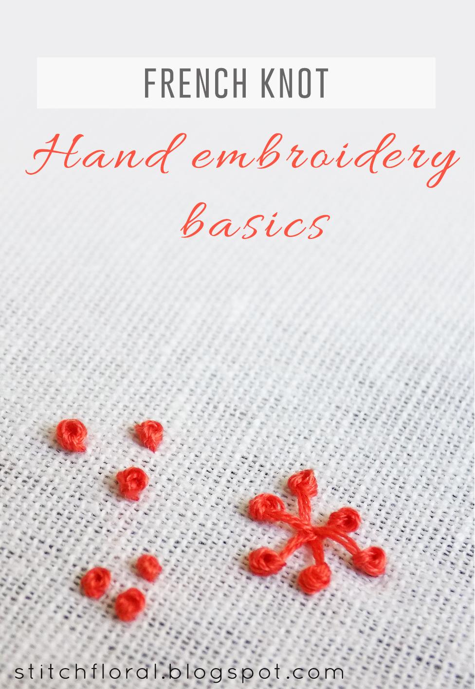 French Knot And Pistil Stitch Stitch Floral
