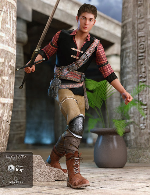 Time Rogue Outfit for Genesis 8 Male