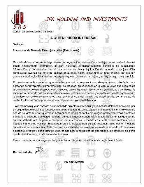 """Philip Tilton FB Letter Post Regarding Zim"" by PNW - 11/10/18 Image1"