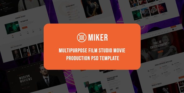 Multipurpose Film Studio Movie Production PSD Template