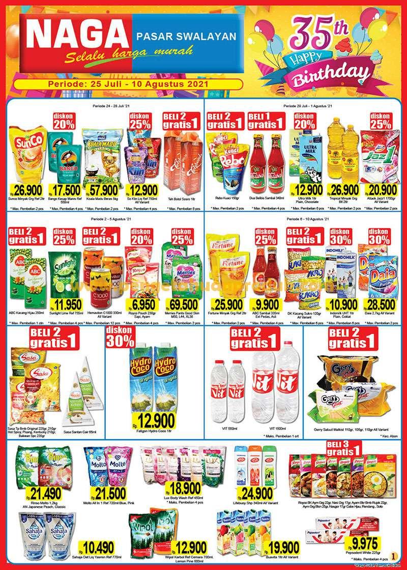 Katalog Promo NAGA SWALAYAN Terbaru 25 Juli - 10 Agustus 2021