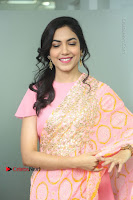 Actress Ritu Varma Pos in Beautiful Pink Anarkali Dress at at Keshava Movie Interview .COM 0043.JPG