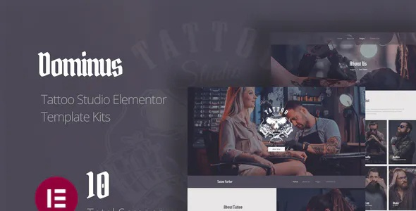 Best Tattoo Studio Elementor Template Kits