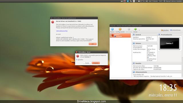Linux Ubuntu no carga el VirtualBox kernel driver