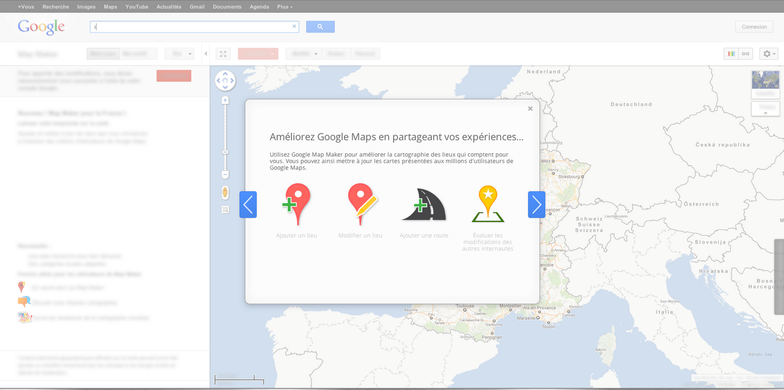 Google Lat Long: Start a affair with Google Map Maker ... on physical map of france, zoomable map of france, large map of france, media of france, detailed map france, book of france, aerial map of france, map of arrondissements paris france, street view of france, map of futuroscope in france, satellite map of france, tumblr map of france, printable map of france, google earth of france, online map of france, google france map with cities, flag of france, print of france, map of europe in france, google map france regions,