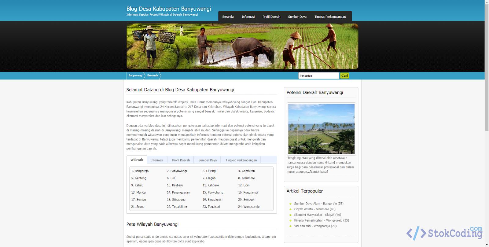 Sistem Informasi Blog Desa Berbasis Web (Codeigniter)