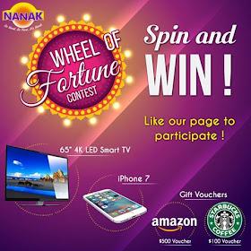 Wheel of Fortune Contest Win 4K LED TV, iPhone 7, Amazon