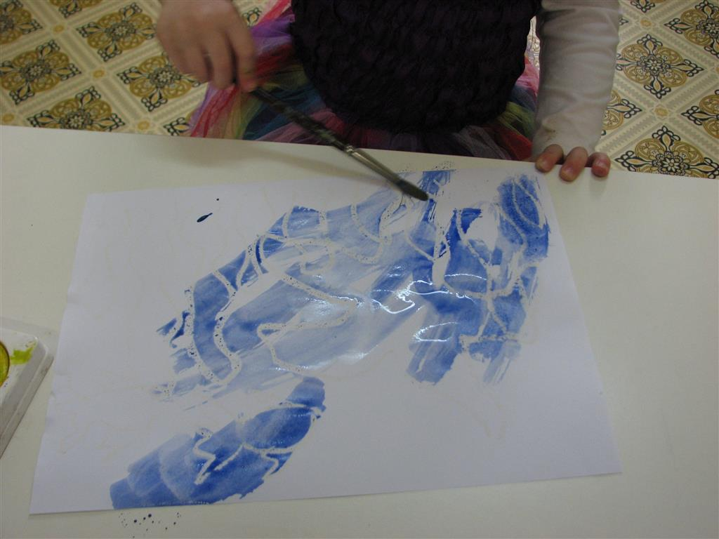 Arty Crafty Studio Resist Painting
