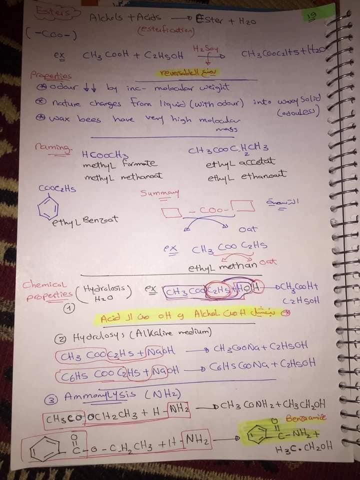ملخص organic chemistry للثانوية العامة لغات 20