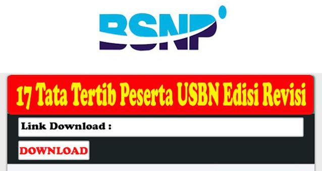 17 Tata Tertib Peserta USBN Jenjang SD, SMP, SMA dan SMK Edisi Revisi