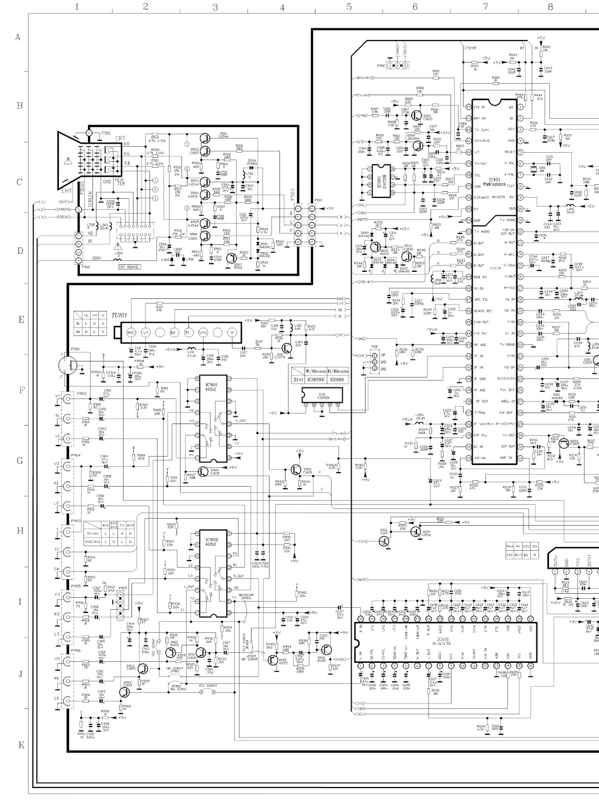 Circuit Board Labeled Diagram Of A Toshiba Tv Control Wiring Diagrams Crt Schematic Samsung
