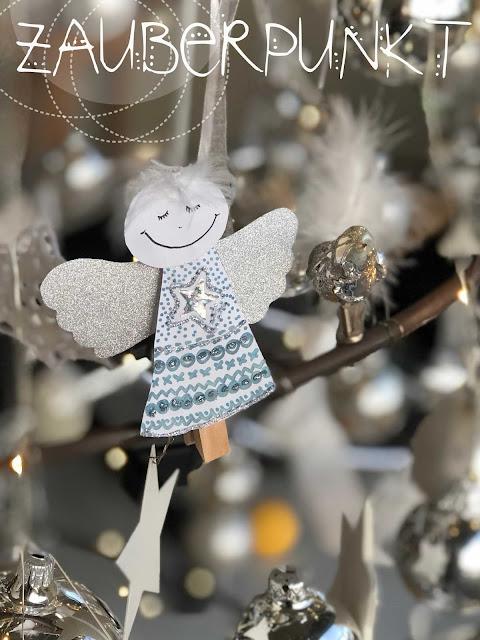 Wäscheklammer-Engel, DIY, Tutorial, Engel basteln mit Kindern, Weihnachten, Engel, Glitzer, Gold, Silber, Weihnachtsbasteln, Selbermachen, Himmelsboten,