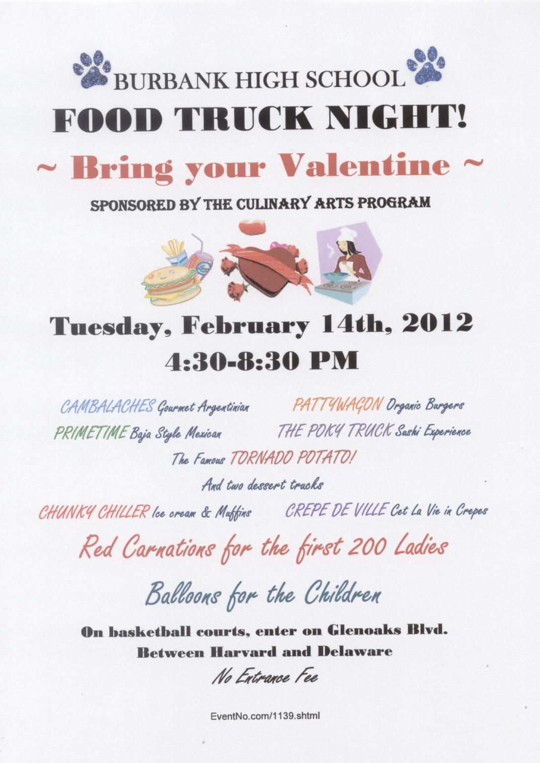 Burbank High Food Truck Night