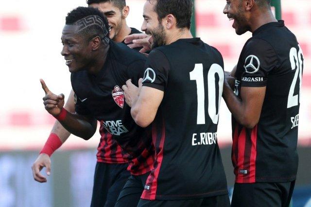 Asamoah Gyan powers Al Ahli to victory in Arabian Gulf League