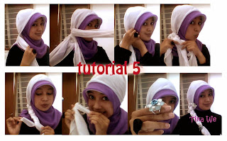 Kreasi Hijab 2 Warna Simple