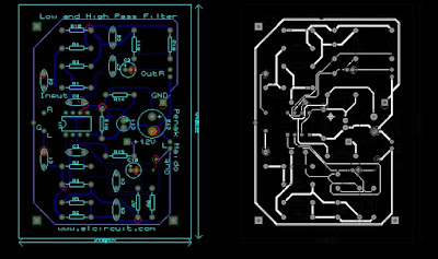Low Pass Filter Layout PCB