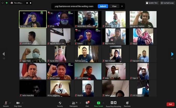 Bulan Inklusi Keuangan 2020, PT. Pegadaian Syariah Area Tangerang Gelar Webinar Bersama PWI Banten