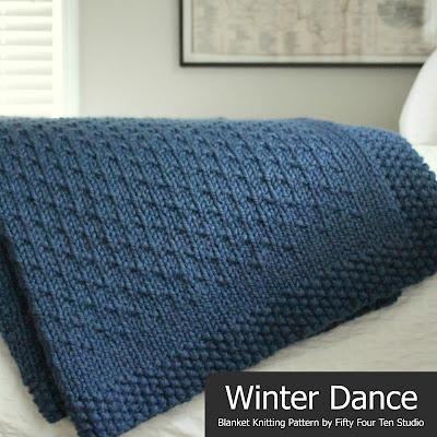 Fifty Four Ten Studio New Cozy Blanket Knitting Pattern Winter Dance