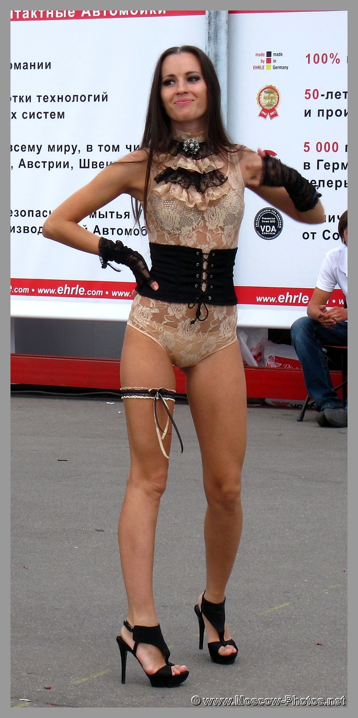 Girl Dancing at Open Air in Moscow