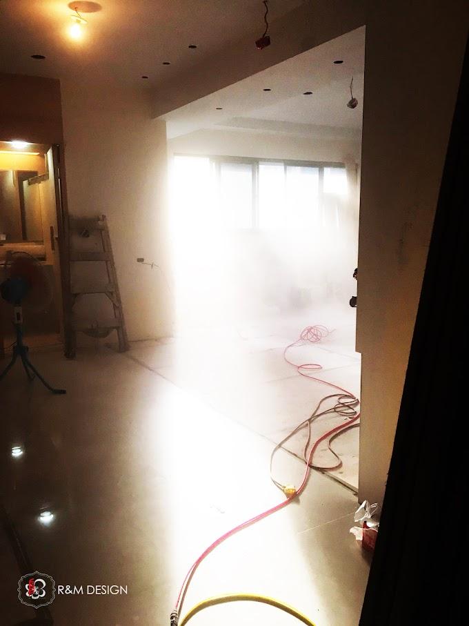工地現場總是這樣: 霧氣氤氳、炊煙裊裊、煙霧迷濛、如入仙境~~~