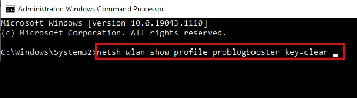 Wifi name command prompt