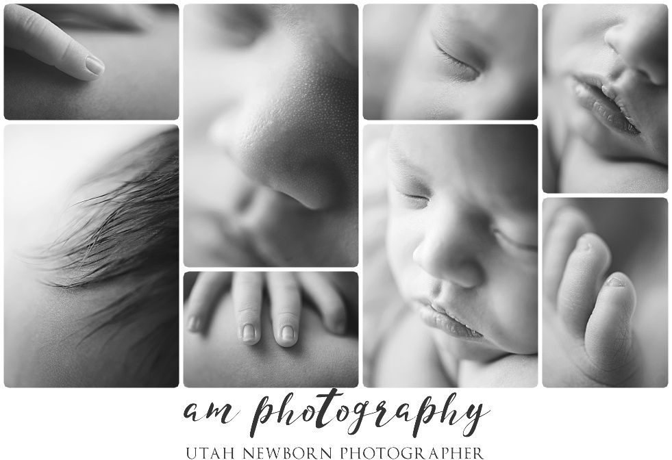 fine art macro details of salt lake city utah newborn