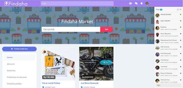 User juga bisa berjualan di marketplace Findaha