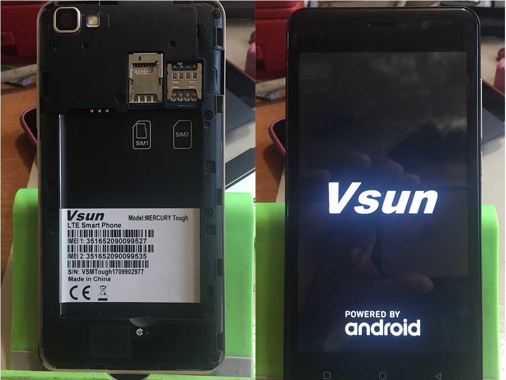 Vsun Mercury Tough Firmware (Stock Rom) Flash File MT6737M Android
