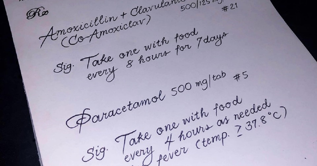 Prescription goes viral for doctor's beautiful penmanship