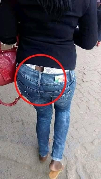 torn%2Bpantie - LADIES, these things are cheap bana!!!, See how this LADY exposed her torn pantie in public(PHOTO).