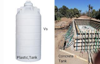 خزانات المياه البلاستيكية (فيبر جلاس) مقابل الخرسانية - كيف تختار الأنسب لمنزلك