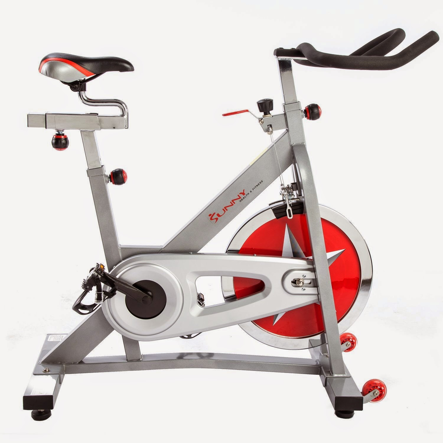 Sunny Health & Fitness SF-B901 Pro Indoor Cycling Bike, review plus compare with SF-B1001, heavier flywheel, more stable heavier frame