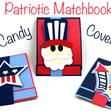 Patriotic Matchbook Candy Covers