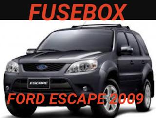 fusebox sekring FORD escape 2009