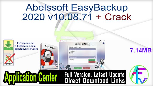 Abelssoft EasyBackup 2020 v10.08.71 + Crack
