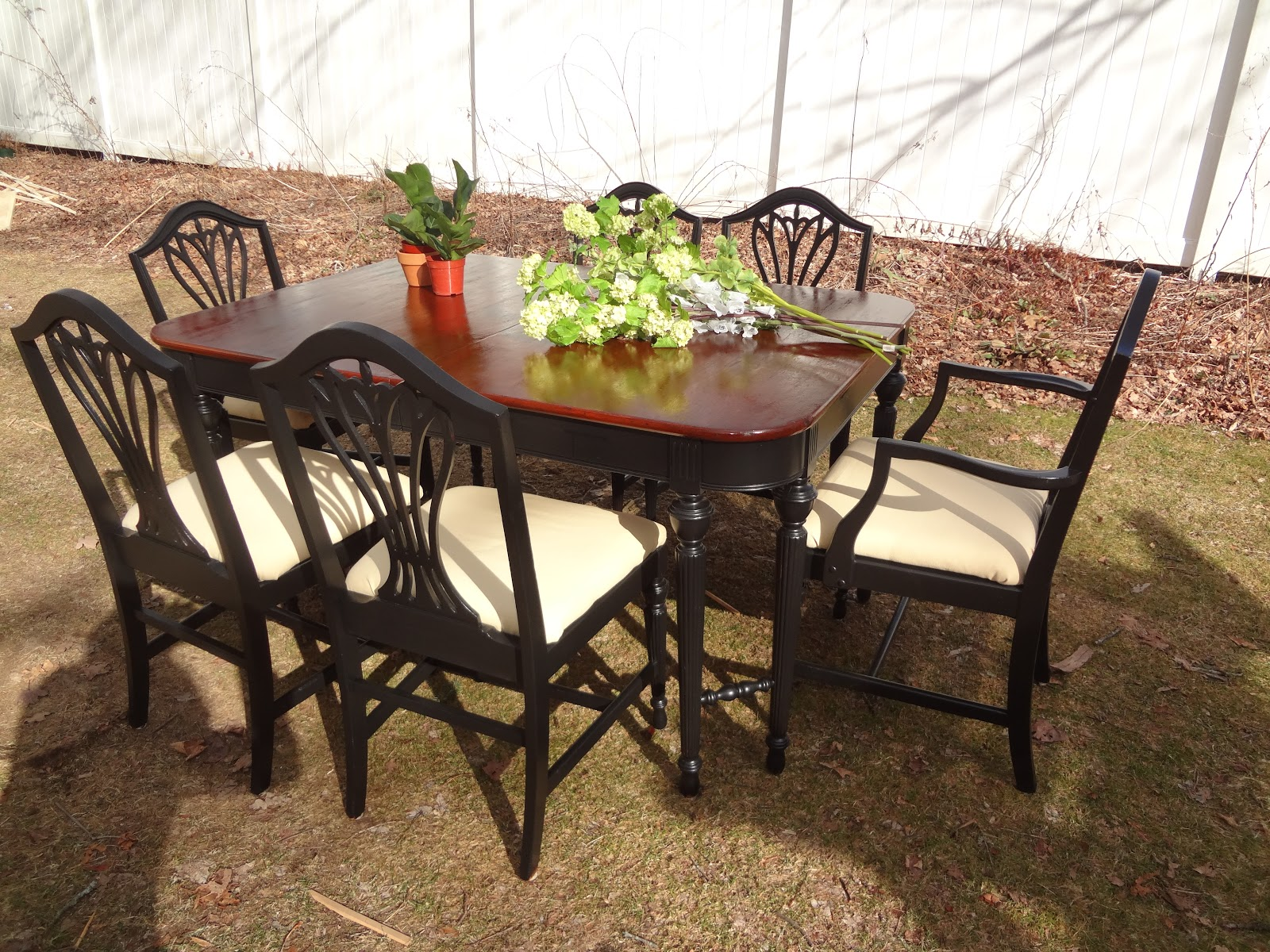 Heir and Space: Black Painted Dining Chairs
