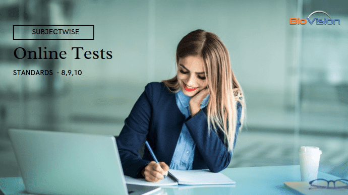 500 Online Tests for Class 8,9,10 - Subjectwise