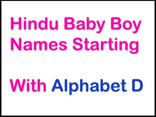 Hindu Baby Boy Names Starting With D