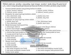 Contoh Soal UTS IPA SMP Kelas 9 Semester 1