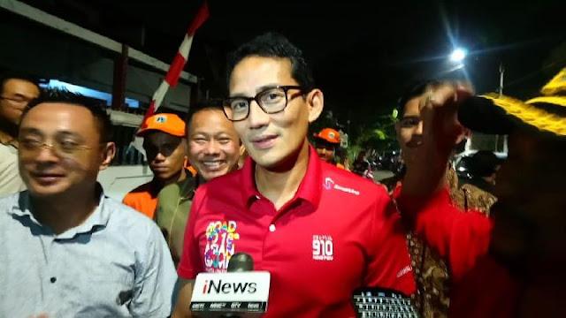 Sandi Tanggapi Santai Sahabatnya Jadi Ketua Tim Kampanye Jokowi-Ma'ruf
