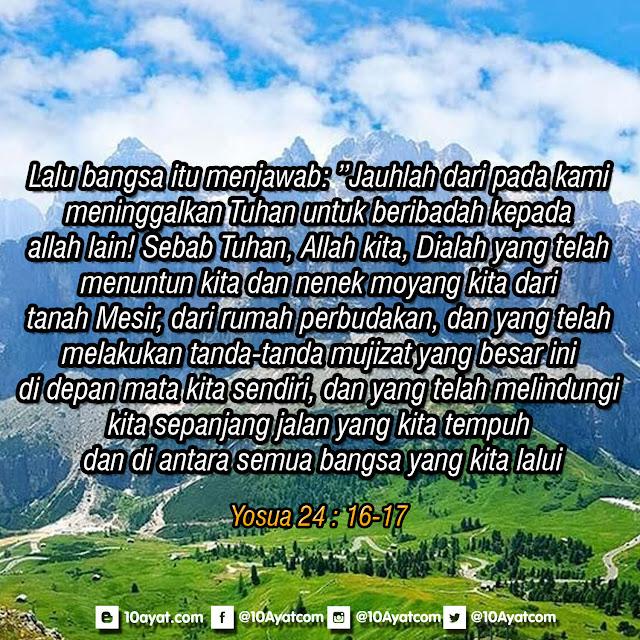 Yosua 24 : 16-17