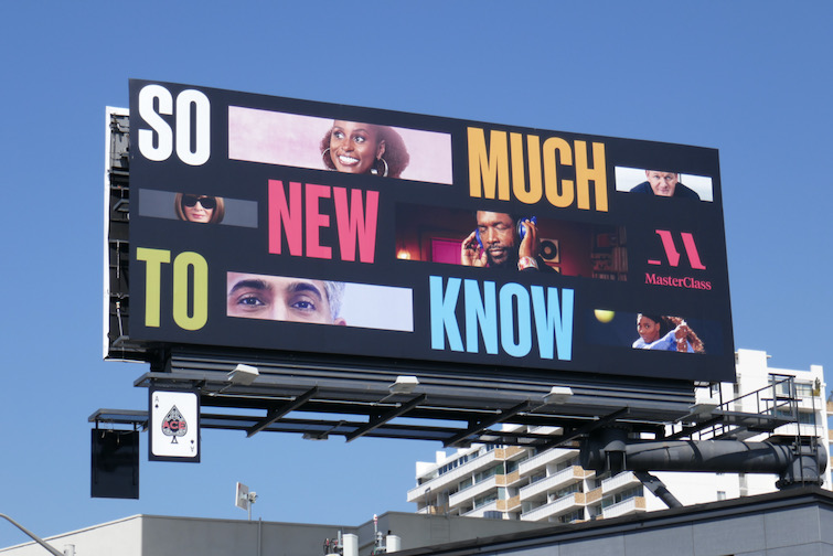 So much new to know MasterClass billboard