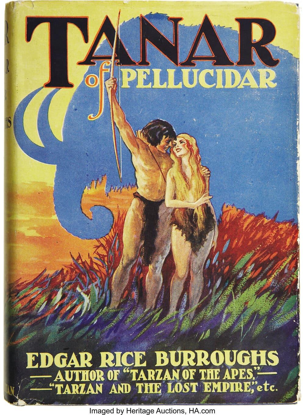 Edgar Rice Burroughs. Tanar of Pellucidar. New York: Metropolitan Books [1930]. Portada de Paul F. Berdanier