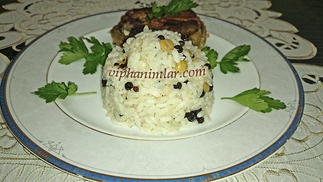 Nohutlu Kuş Üzümlü Pirinç Pilavı