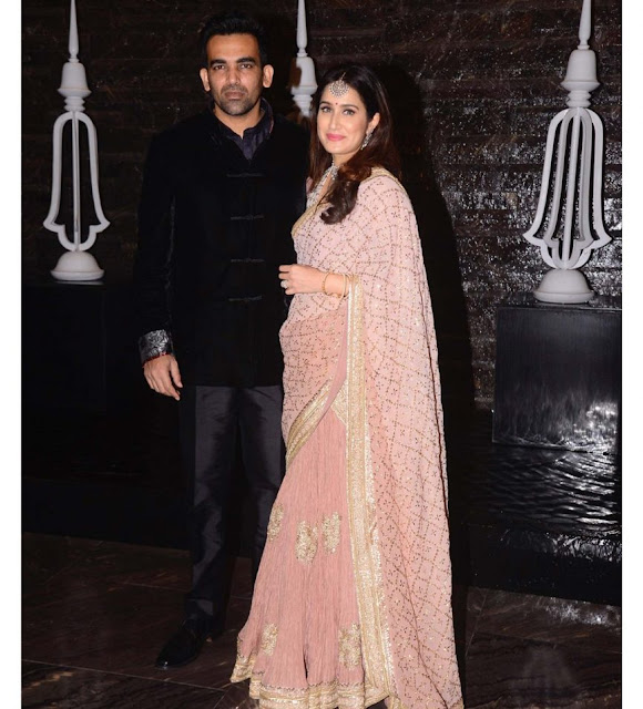 Zaheer Khan and Sagarika Ghatge at Their Wedding After Party