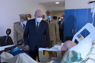 Brahim Ghali en convalescence en Algérie et Tebboune lui rend visite