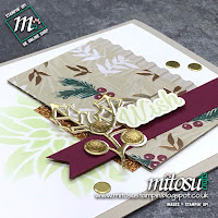 Stampin' Up! Peaceful Poinsettia Bundle Card Idea. Order from Mitosu Crafts UK Online Shop