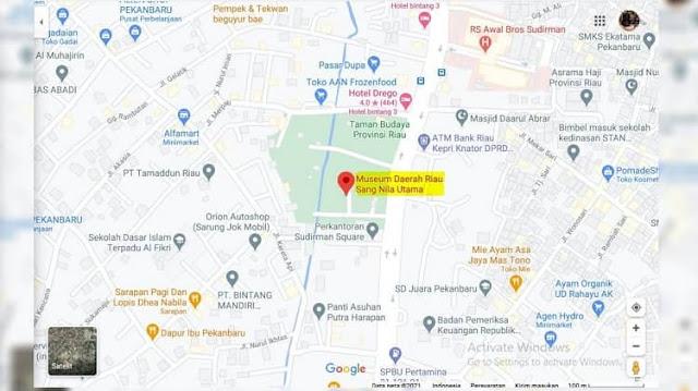 Peta Lokasi Museum Sang Nila Utama Pekanbaru, Riau